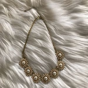 Francesca's Pearl Jeweled Statement Necklace